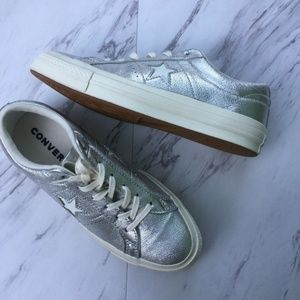 Converse One Star Ox Leather Women's 7.5 Silver